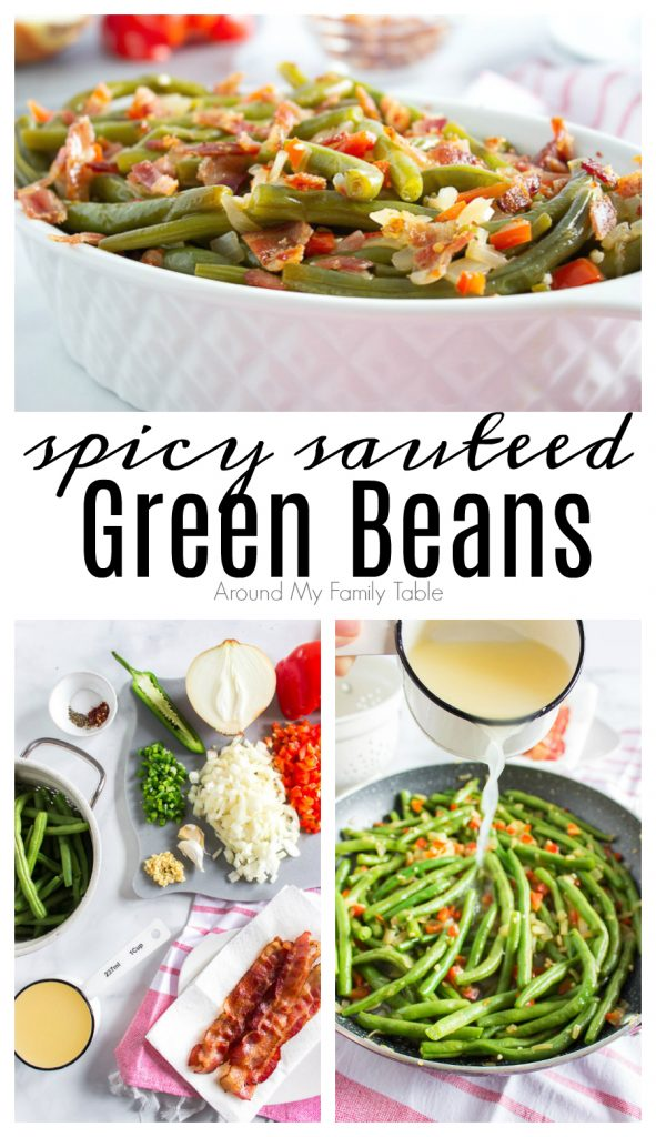 spicy sauteed green bean collage