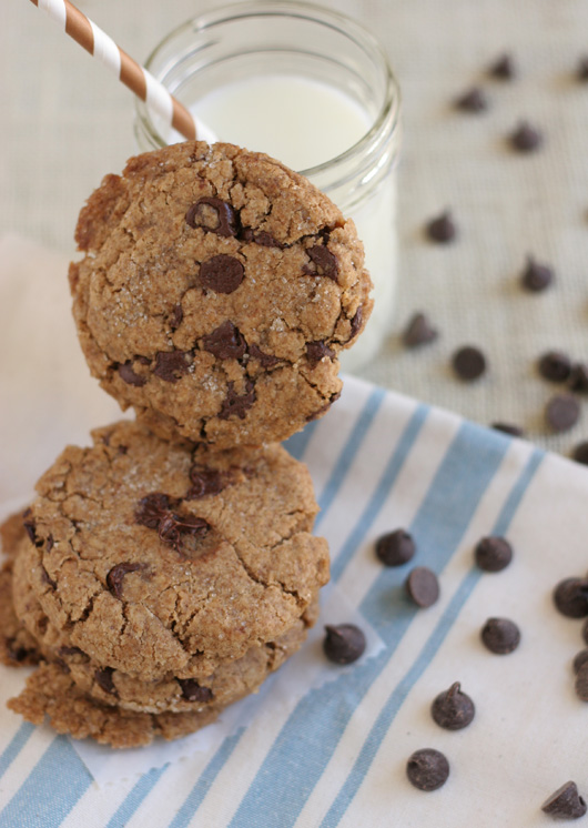 Espresso and Sea Salt Cookies  (gluten free, dairy free)