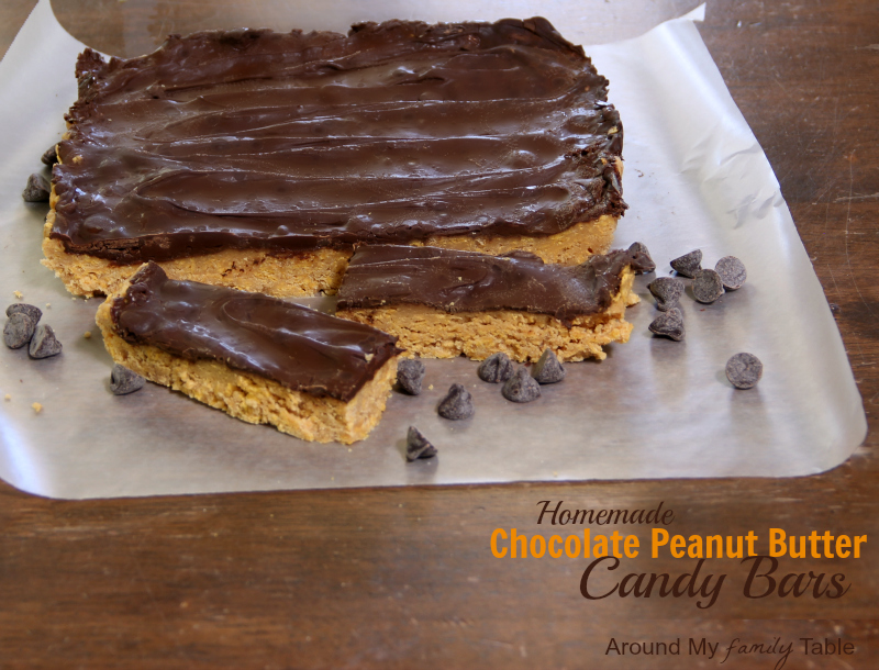homemade chocolate peanut butter candy bars (gluten free, dairy free, vegan)