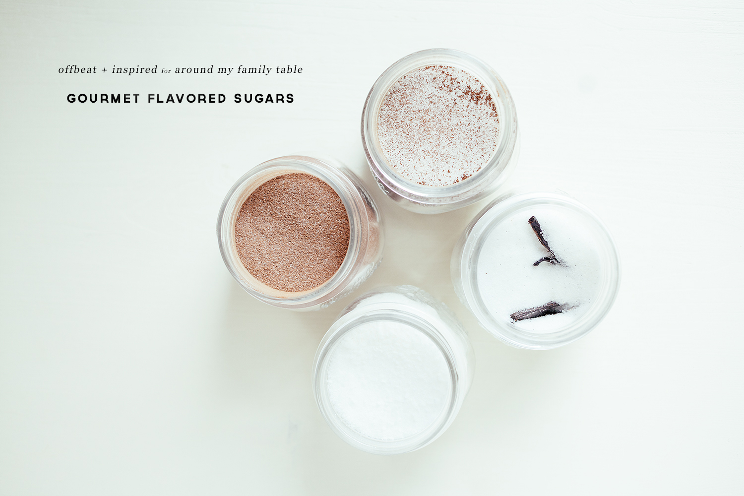 Homemade Gourmet Flavored Sugars