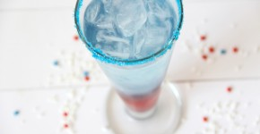 Red, White, & Blue Layered Drink....perfect for 4th of July or any patriotic celebration!