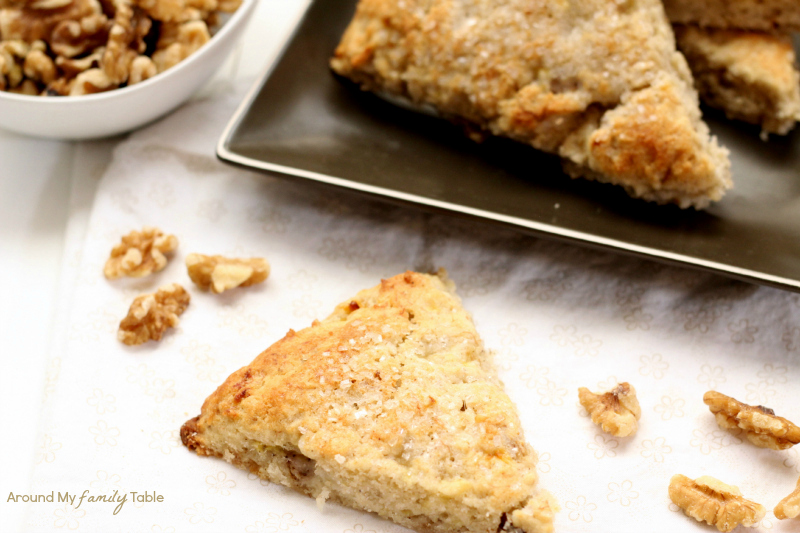 Banana Walnut Scones, so moist and delicious...plus they are gluten ...