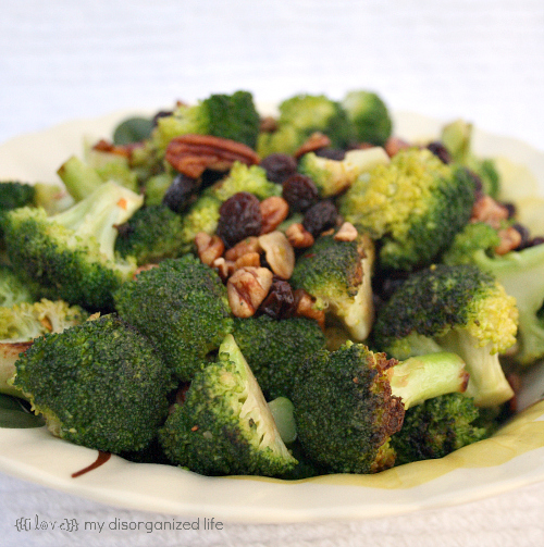 Broccoli Saute' with Pecans and Garlic