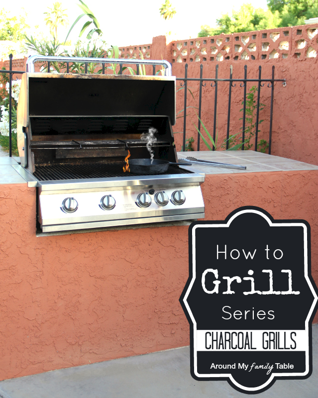 Everything you need to know about grilling with a charcoal grill. Summertime means grilling time!  If you're a little nervous, don't be, my How to Grill using a Charcoal Grill guide will get you to grill master in no time! It's part of my Grilling 101 Summer series! #grilling #charcoalgrill #outdoorcooking