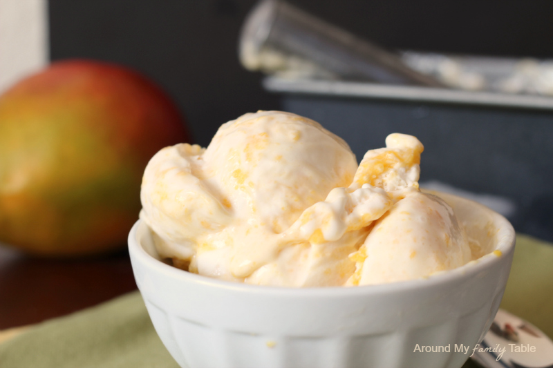 {Dairy Free} Mango Cheesecake Ice Cream