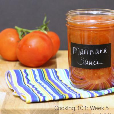 Cooking 101 Basics Week #5 – Marinara Sauce