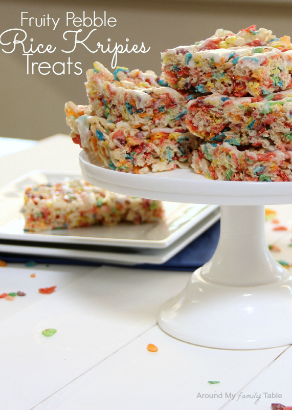 Fruity Pebble Krispies Treats - Around My Family Table