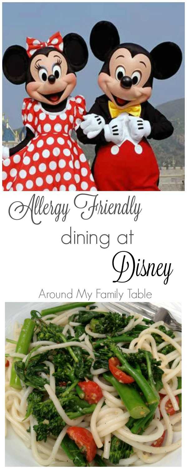 Allergy Friendly Disney Vacations - Places to dine at Disney that cater to allergies