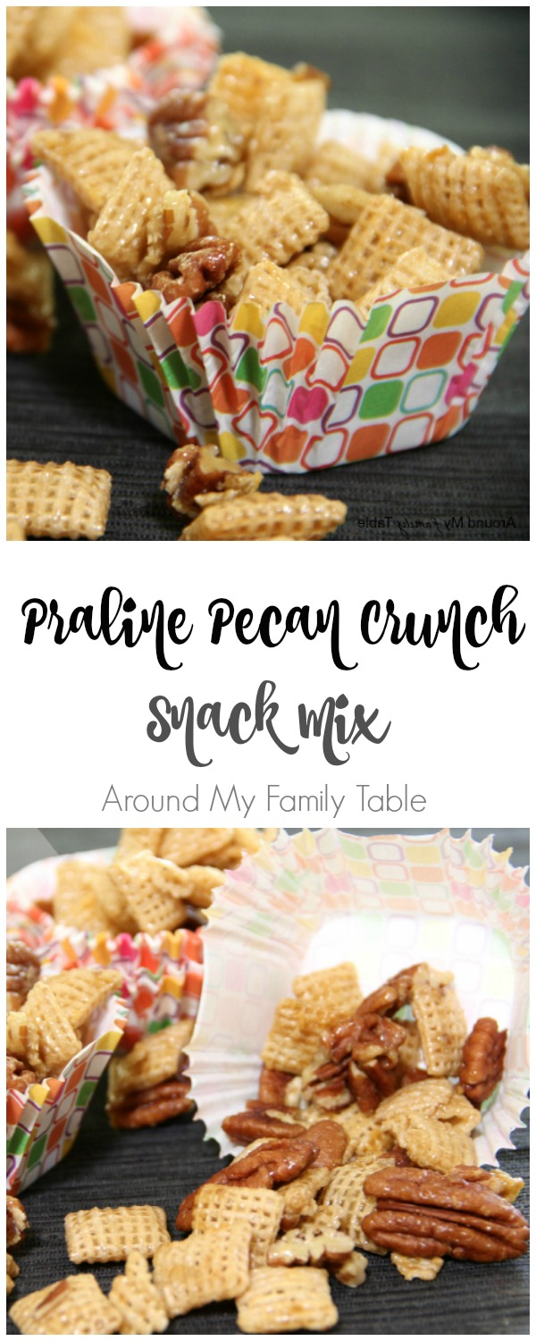 Praline Pecan Crunch Snack Mix | #glutenfree #snack