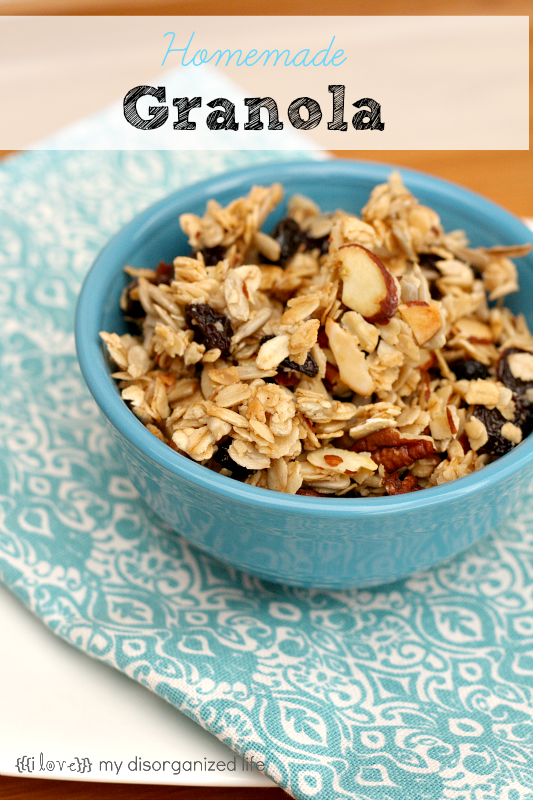Easy Homemade Granola - Around My Family Table