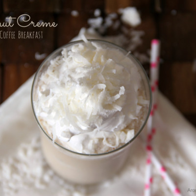 Coconut Creme Blended Coffee Breakfast