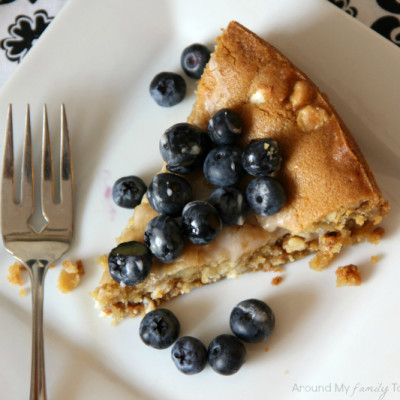 Biscoff Stuffed White Chocolate Chip Cookie Tart with Fresh Berries