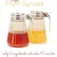 DIY Homemade Fruit Syrups