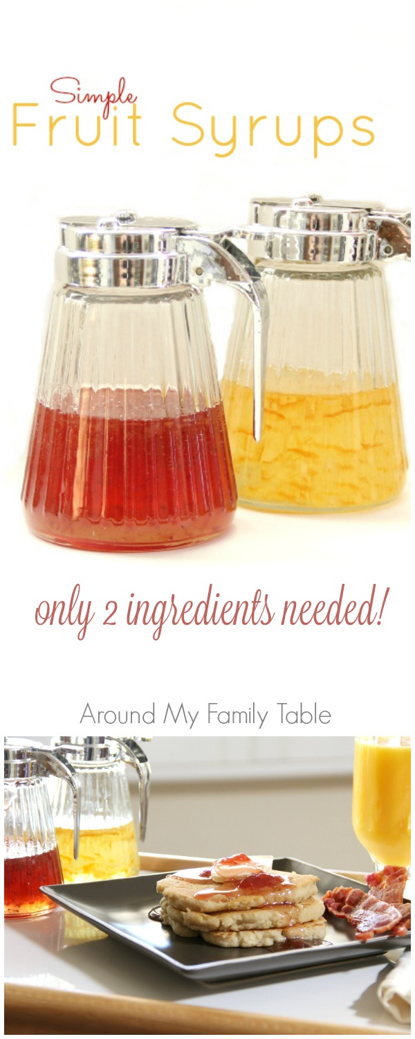 How to make homemade fruit syrups - just TWO ingredients!