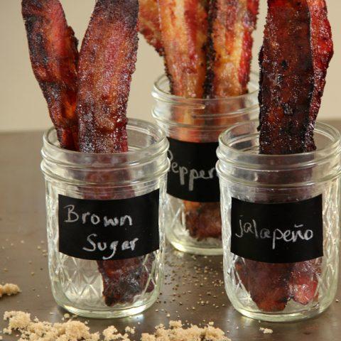 jars of gourmet bacon