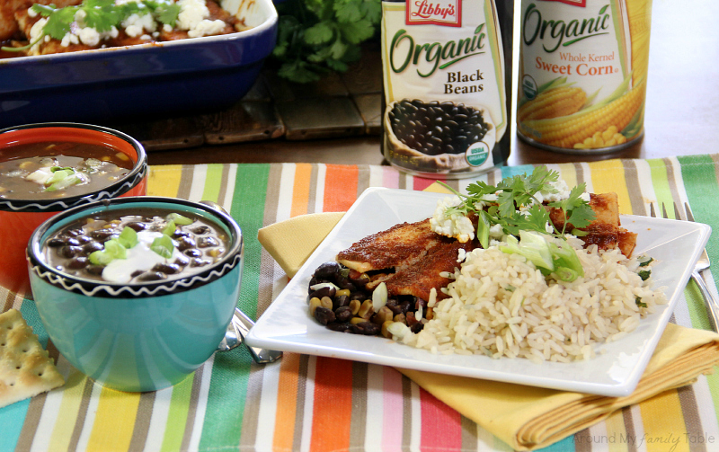 Cook Once, Eat Twice! Slow Cooker Black Bean Soup & then make Enchiladas with the leftover soup!