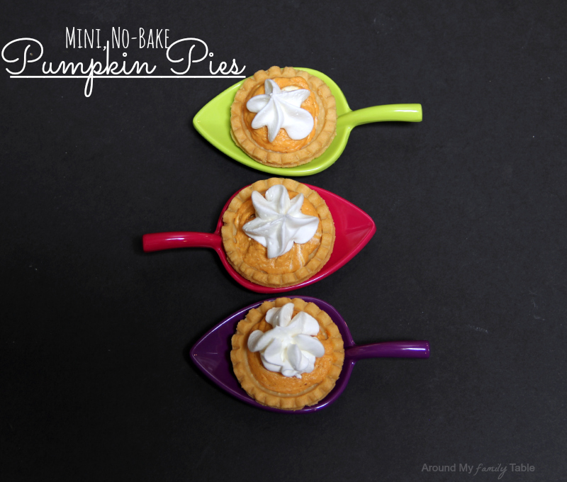 Mini No-Bake Pumpkin Pies
