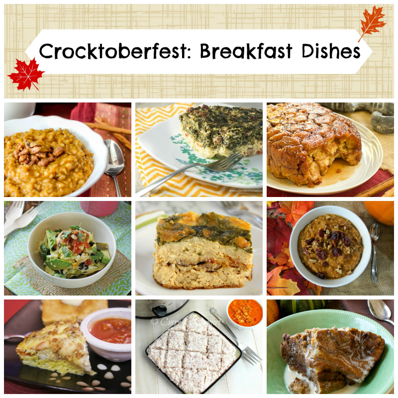 10 delicious breakfast slow cooker recipes -- #Crocktoberfest2013