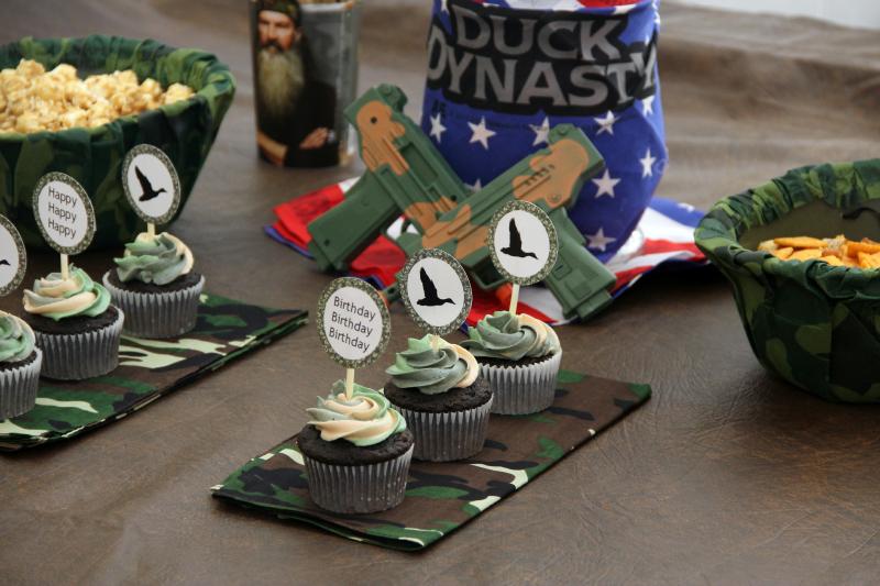 Groovy Duck Dynasty Birthday Party Around My Family Table Personalised Birthday Cards Veneteletsinfo
