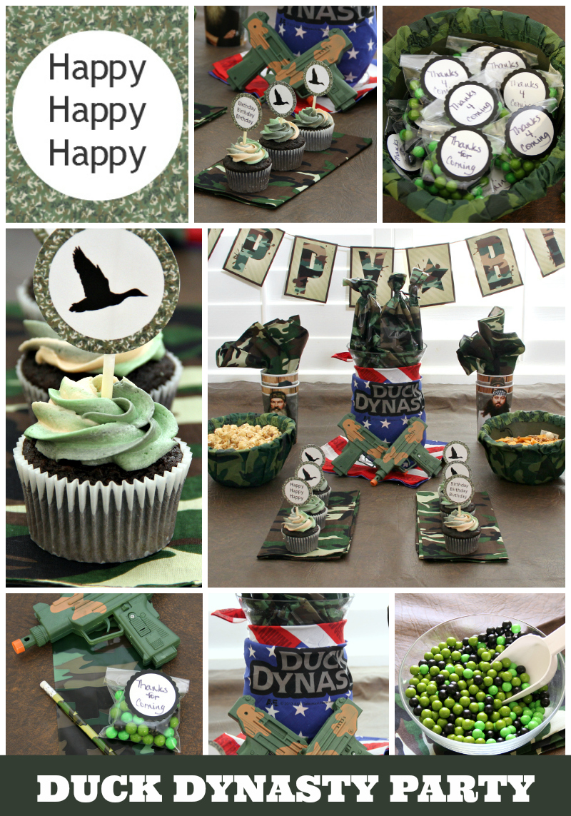 Duck Dynasty Birthday Party Ideas...from invites to cupcakes to decor to printables