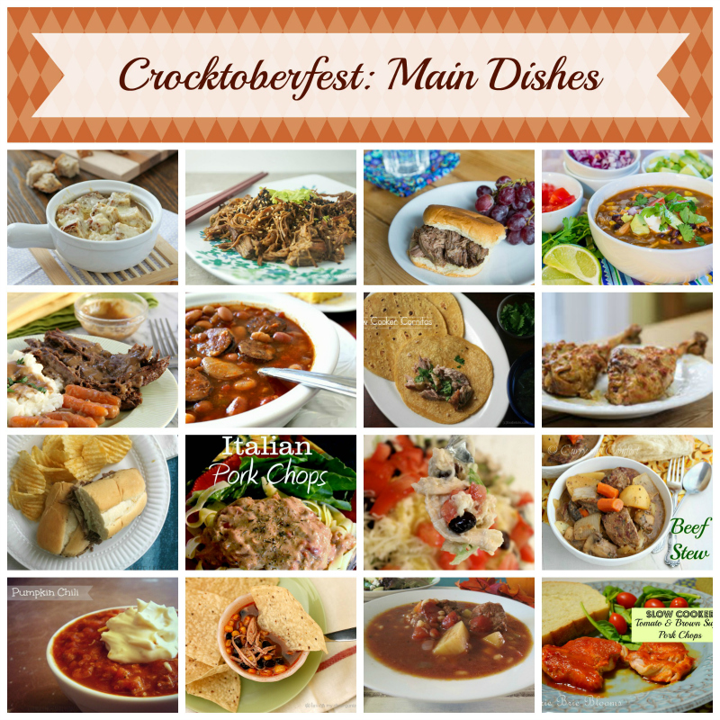 17 amazing main dish slow cooker recipes -- #Crocktoberfest2013