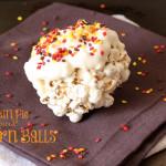 Pumpkin Pie Spiced Popcorn Balls