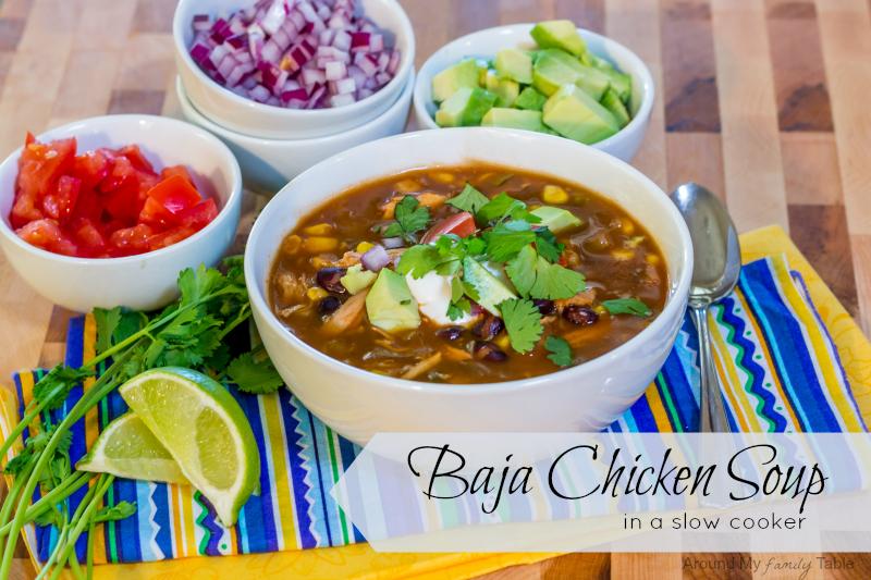 Slow Cooker Baja Chicken Soup