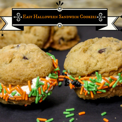 Easy Halloween Sandwich Cookies