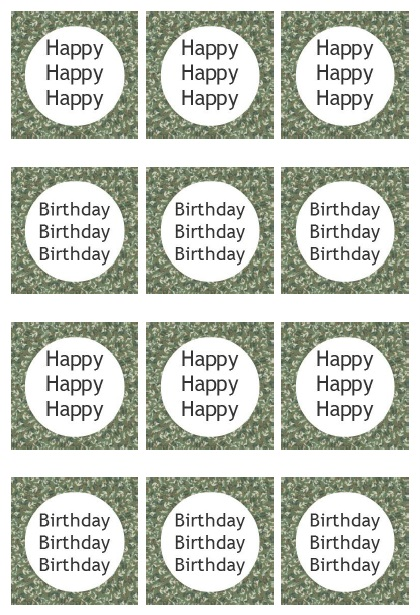 Duck Dynasty Birthday Party cupcake toppers {Free Printables}