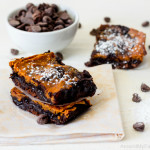 Fudgy Pumpkin Brownies...the perfect fall treat! Plus they are gluten free and vegan!
