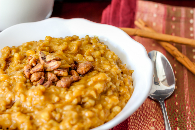 Pumpkin Pie Oatmeal - Around My Family Table