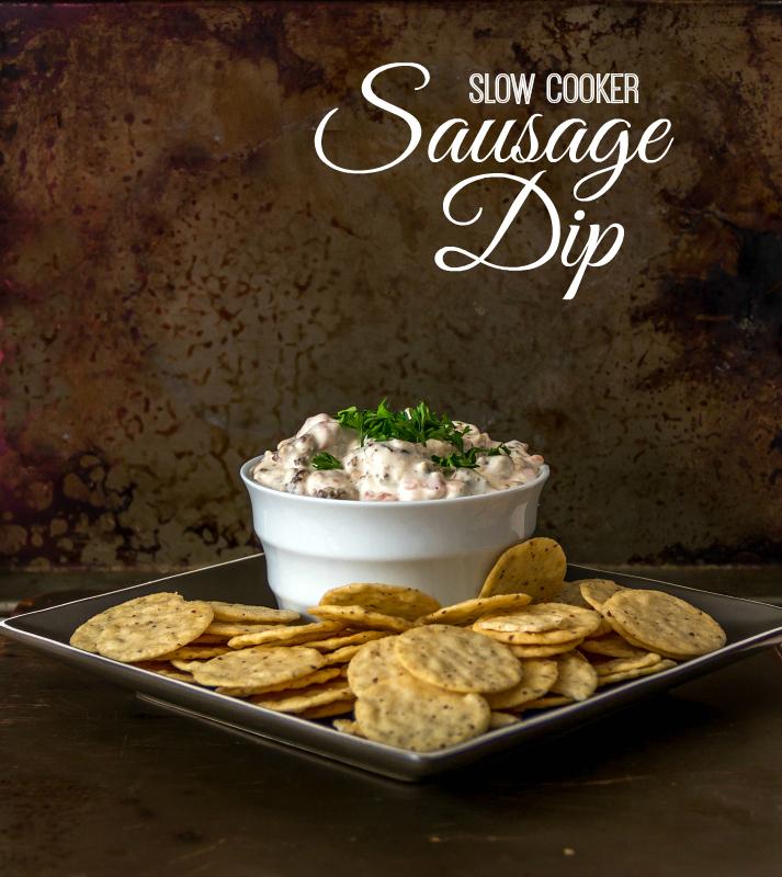 Slow Cooker Sausage Dip (gluten free, dairy free, & a vegan option too)