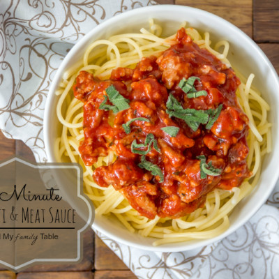 Quick & Easy Spaghetti with Meat Sauce