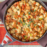 {Gluten Free} One Pot Spicy Chicken Sausage Dressing