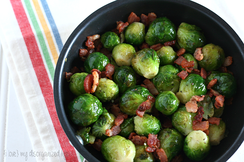 Lemon Pepper Brussels Sprouts with Bacon