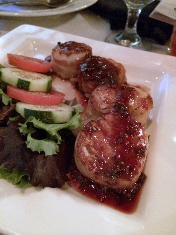 Bacon Wrapped Scallops--Ruffino Italian Restaurant Review in Phoenix, AZ