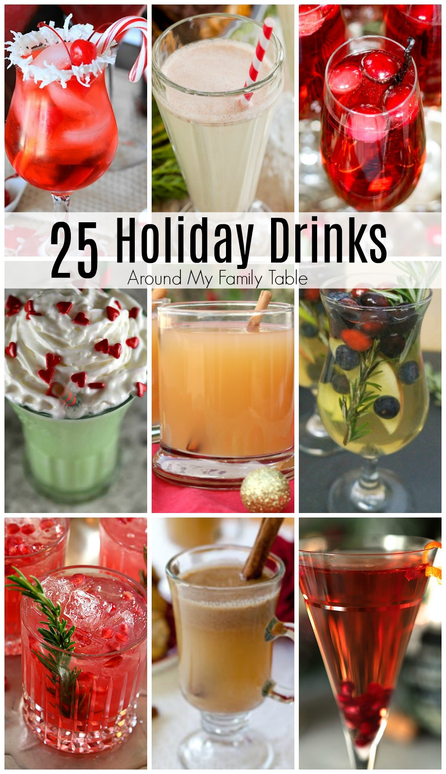 From slow cooker punch to Christmas morning mimosas, there are so many simple and delicious holiday drinks for everyone on your guest list. I hope you enjoy these delicious Holiday Drinks at your next party!