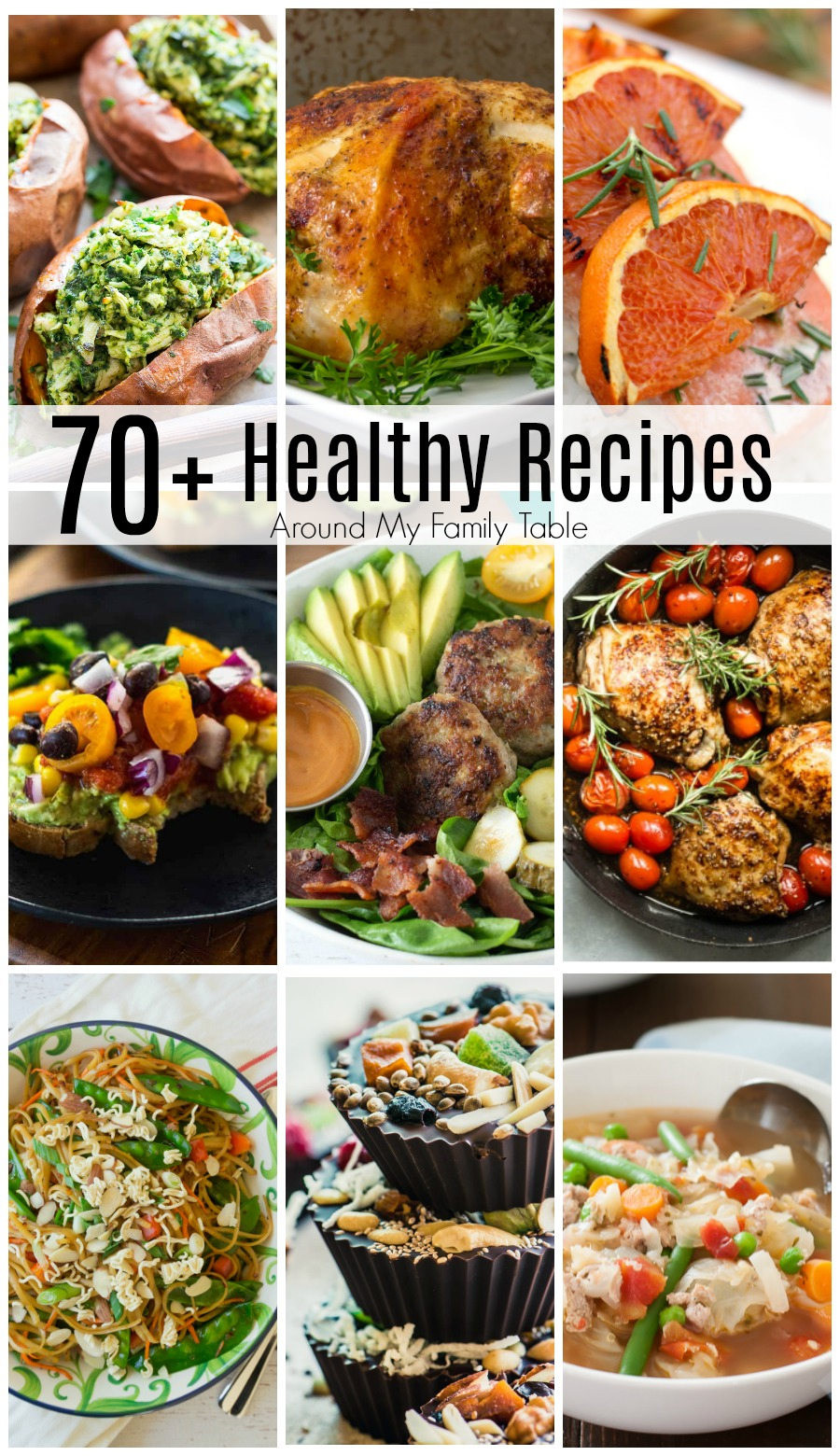 Losing some extra weight or eating a more healthy diet usually tops the list of new resolutions, and this list of over 70 Easy Healthy Recipes will be sure to help you keep on track.  via @slingmama