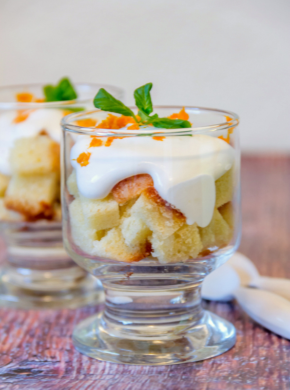 Pound Cake with Orange Liqueur Creme
