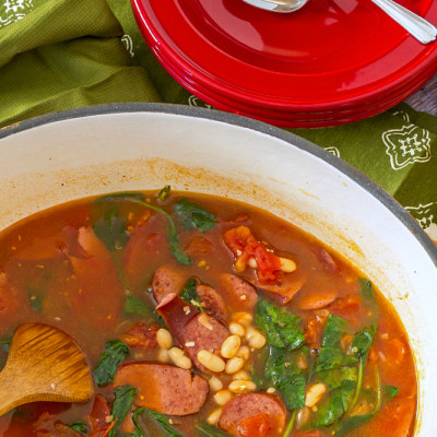 Healthy Bean and Sausage Soup