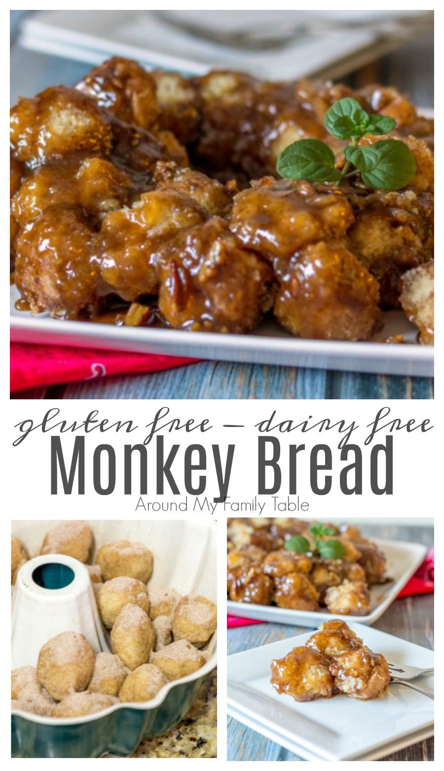 Gluten Free Monkey Bread is a classic sticky sweet breakfast treat, perfect for a weekend brunch! Plus it's Dairy Free too! via @slingmama