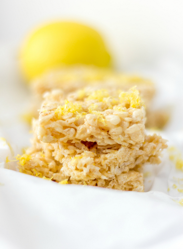 Lemonade Rice Krispies Treats