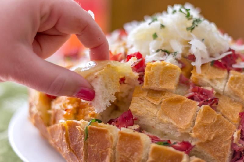 Stuffed Reuben Pull-Apart Bread