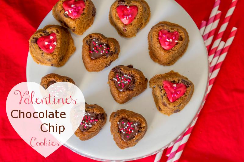 Valentine's Chocolate Chip Cookies #12bloggers