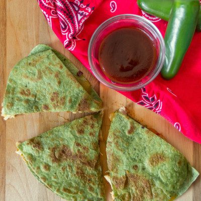 Hawaiian BBQ Chicken Quesadillas
