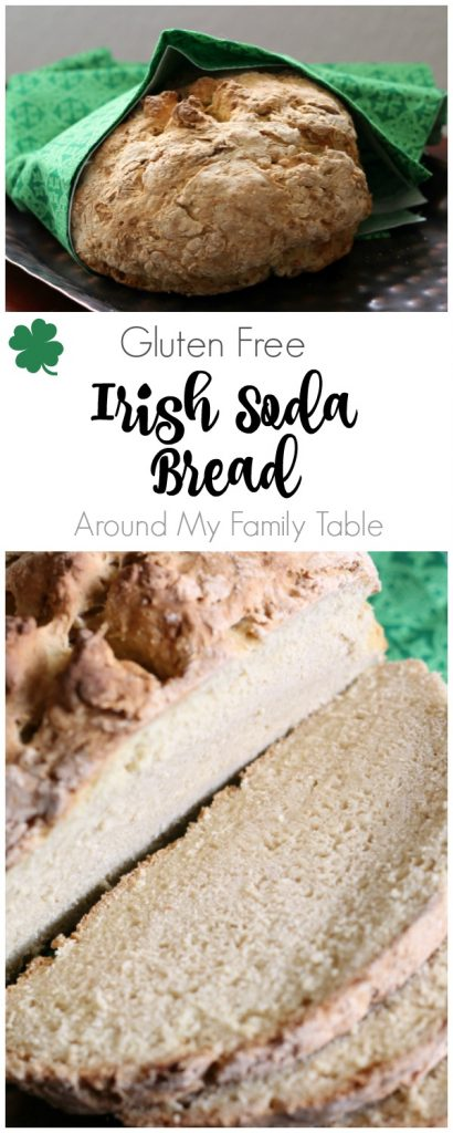 Celebrate St. Patrick's Day with this delicious Gluten Free Irish Soda Bread (it's vegan too)! Plus how to make Dairy Free Buttermilk!!!