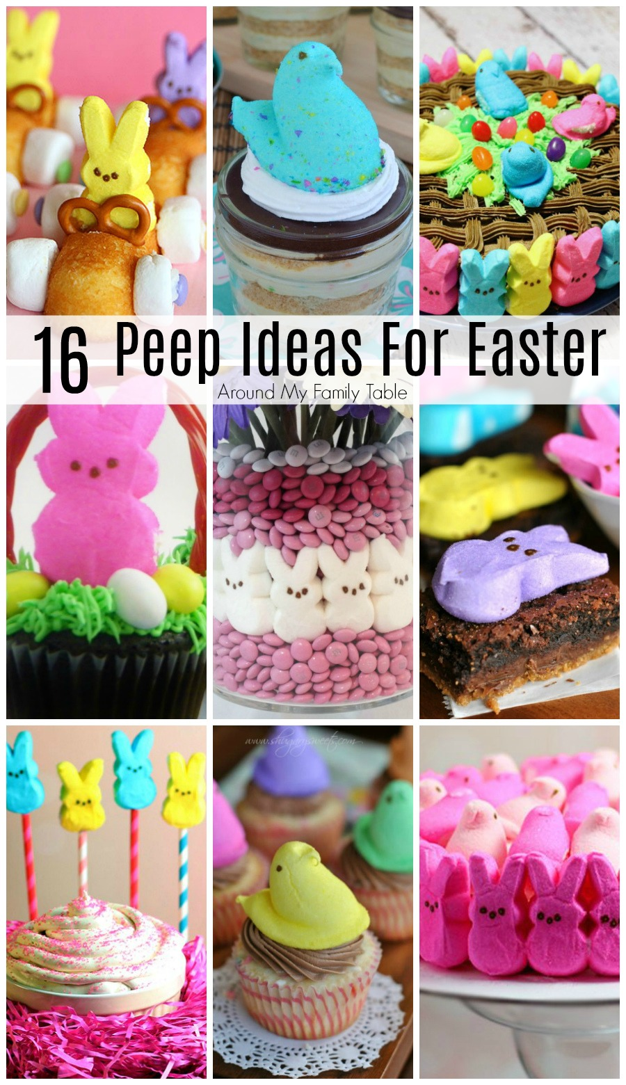 Hey Peeps fans!  You need these 16 Peeps Ideas for Easter to take you Peep addiction to a new level. #peeps #easter #easterdesserts via @slingmama