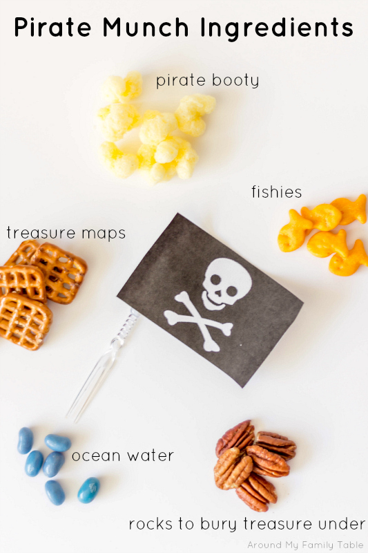 This Pirate Munch Party Mix is perfect for all the pirates and fairies in your life!