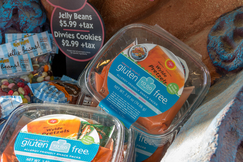 Gluten Free snacks at SeaWorld