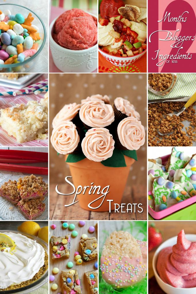 12 Scrumptious Spring Treats from the #12bloggers group! Every recipe is 12 ingredients or less.